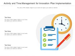 Activity And Time Management For Innovation Plan Implementation Infographic Template