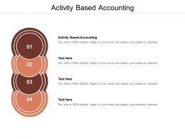 Activity Based Accounting Ppt Powerpoint Presentation Styles Graphics Cpb