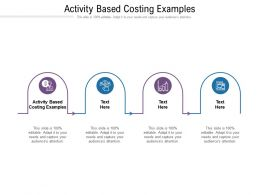 Activity Based Costing Examples Ppt Powerpoint Presentation Infographic Template Smartart Cpb