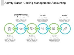 Activity Based Costing Management Accounting Ppt Powerpoint Presentation Styles Clipart Cpb