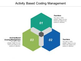 Activity Based Costing Management Ppt Powerpoint Presentation Pictures Deck Cpb
