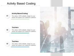 Activity Based Costing Ppt Powerpoint Presentation File Format Cpb