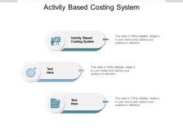 Activity Based Costing System Ppt Powerpoint Presentation Diagram Graph Charts Cpb