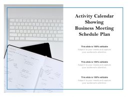 Activity Calendar Showing Business Meeting Schedule Plan