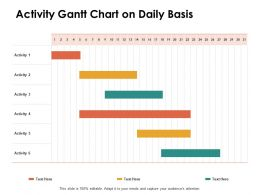 Activity Gantt Chart On Daily Basis Ppt Powerpoint Presentation Outline Background