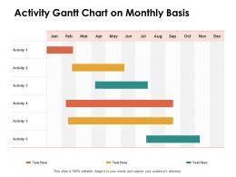 Activity Gantt Chart On Monthly Basis Ppt Powerpoint Presentation Summary