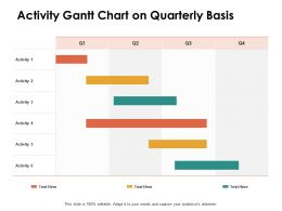 Activity Gantt Chart On Quarterly Basis Ppt Powerpoint Presentation Portfolio