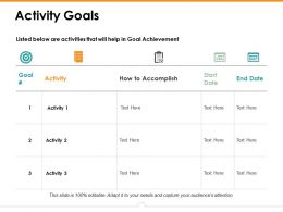 Activity Goals Ppt Gallery Example Topics