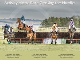 Activity Horse Race Crossing The Hurdles