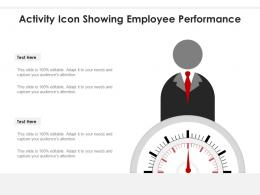 Activity Icon Showing Employee Performance