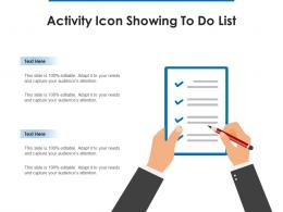Activity Icon Showing To Do List