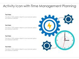 Activity Icon With Time Management Planning
