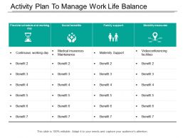 Activity Plan To Manage Work Life Balance