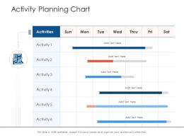 Activity Planning Chart Project Strategy Process Scope And Schedule Ppt Design Ideas