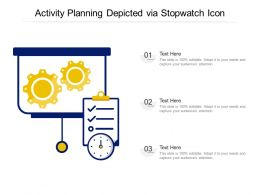 Activity Planning Depicted Via Stopwatch Icon