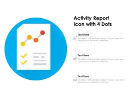 Activity Report Icon With 4 Dots