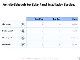 Activity Schedule For Solar Panel Installation Services Survey Ppt Slides