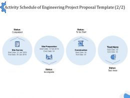 Activity Schedule Of Engineering Project Proposal Template Ppt Powerpoint Template