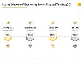 Activity Schedule Of Engineering Service Proposal Template Ppt Powerpoint Presentation Tips