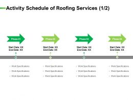 Activity Schedule Of Roofing Services Management Ppt Ideas