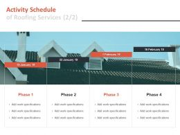 Activity Schedule Of Roofing Services Management Ppt Powerpoint Rules