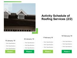 Activity Schedule Of Roofing Services Marketing Ppt Inspiration