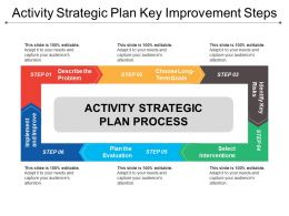 Activity Strategic Plan Key Improvement Steps