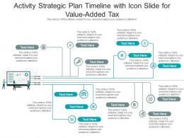 Activity Strategic Plan Timeline With Icon Slide For Value Added Tax Infographic Template
