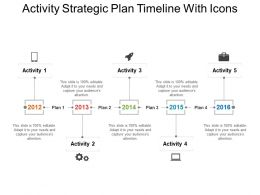Activity Strategic Plan Timeline With Icons