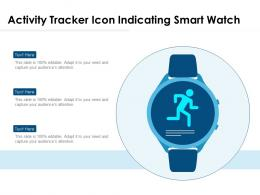 Activity Tracker Icon Indicating Smart Watch