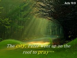 Acts 10 9 The City Peter Went Up Powerpoint Church Sermon