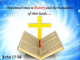 Acts 17 26 Appointed Times In History PowerPoint Church Sermon