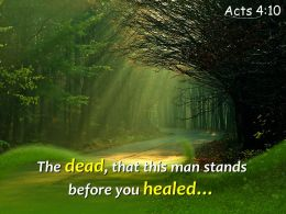 Acts 4 10 The Dead That This Man Powerpoint Church Sermon