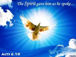 Acts 6 10 The Spirit Gave Him Powerpoint Church Sermon