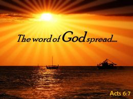 Acts 6 7 The word of God spread PowerPoint Church Sermon