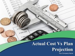 Actual Cost Vs Plan Projection Powerpoint Presentation Slides