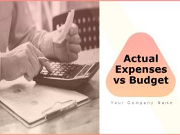 Actual Expenses Vs Budget Powerpoint Presentation Slides