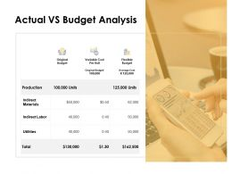 Actual Vs Budget Analysis Financial Ppt Powerpoint Presentation Icon Objects