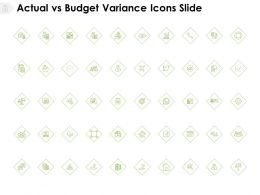 Actual Vs Budget Variance Icons Slide Compare Calendar E126 Ppt Powerpoint Presentation Ideas Maker