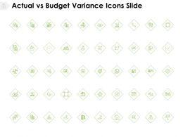 Actual Vs Budget Variance Icons Slide Compare Calendar E126 Ppt Powerpoint Presentation Ideas Maker