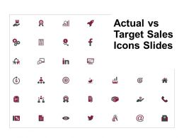 Actual Vs Target Sales Icons Slides Goal Growth D82 Ppt Powerpoint Presentation Gallery Model