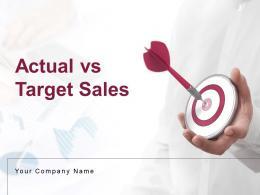 Actual Vs Target Sales Powerpoint Presentation Slides