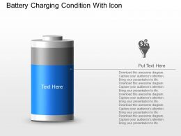 Ad Battery Charging Condition With Icon Powerpoint Template