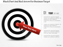 Ad Black Dart And Red Arrow For Business Target Powerpoint Templets