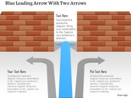 Ad Blue Leading Arrow With Two Arrows Powerpoint Template