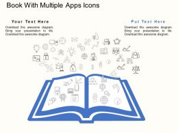 Ad Book With Multiple Apps Icons Flat Powerpoint Design