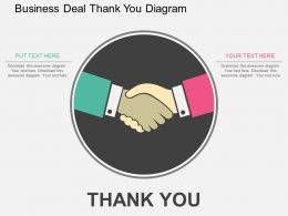 ad Business Deal Thank You Diagram Flat Powerpoint Design