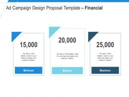 Ad Campaign Design Proposal Template Financial Ppt Powerpoint Presentation Infographic