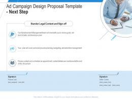Ad Campaign Design Proposal Template Next Step Ppt Powerpoint Presentation Ideas Slideshow