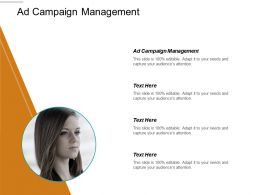 Ad Campaign Management Ppt Powerpoint Presentation Gallery Layout Cpb